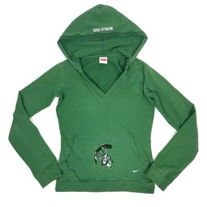 Nike Michigan State Spartans L/S Hooded V-Neck Tee